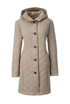 Women's+Fleece+Lined+Quilted+Wool+Coat+from+Lands'+End
