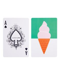 Playing card games just got even more exciting thanks to these larger-than-life playing cards by Sunnylife!
