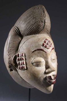 Mask made by the Punu people of Gabon