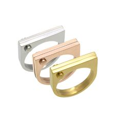 Square Ring - Stainless Steel