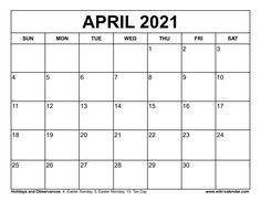 Wiki Calendar April 2021 Easter Monday, 2021 Calendar, Free Printables, Free Printable
