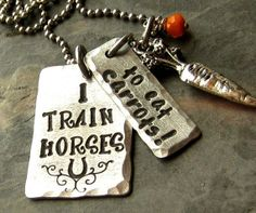 Hand Stamped Horse LoverEquestrian Pendant by EquineExpressionsbyD, $28.00