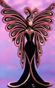 Le Papillon Barbie. Designed by Bob Mackie in celebration of Barbie's 40th anniversary.