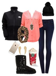 """""""#whitegirl"""" by hannahintheuk ❤ liked on Polyvore featuring The North Face, Goldsign, Forever New, UGG Australia, Topshop and Armitage Avenue"""