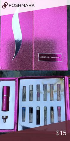 Sephora fragrance sample kit. Designer fragrance samples from sephora.  Free redeemable rollerball. Sephora Other