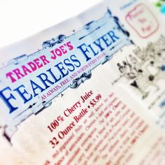 Ah snap, received our first ever Trader Joe's Fearless Flyer in the mail today... this just got real Boulder O-o