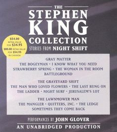 The Stephen King Collection: Stories from Night Shift by Stephen King.  http://www.amazon.com/dp/0739317369/ref=cm_sw_r_pi_dp_VbfIsb0T7AFG05J0