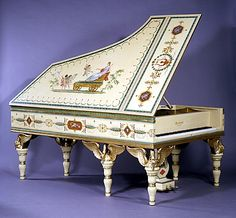 Gaveau  - The Swan Piano, An Important Neoclassical Painted and Parcel-Gilt Piano, Wonderful, TG