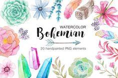 beautiful bohemian watercolours