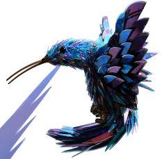 Upeaa uusiokäyttöä - Taidetta CD-levyistä!    Amazing animal sculptures made from CD shards by Sean Avery #ideat #diy #recycling #art #ideas