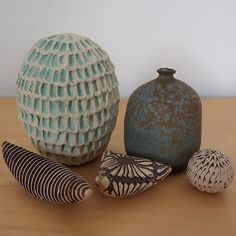 "20cmodern:  ""demetria chappo, kelly jean ohl. #obsessed #studiopottery #pottery #ceramic #decor #seedrattle #weedpot #vase #organic"" by @teapotd0me on Instagram http://ift.tt/1Lqv15O"
