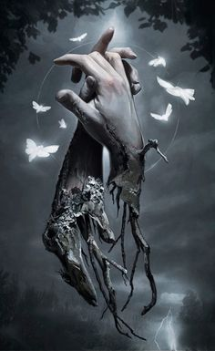 Tattoos Discover Macabre Supernatural Digital Paintings by David Seidman Dark Fantasy Art, Fantasy Kunst, Fantasy Artwork, Final Fantasy, Dark Gothic Art, Arte Horror, Horror Art, Beautiful Dark Art, Beautiful Angels Pictures