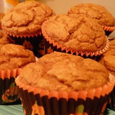 Healthy Pumpkin Muffins. I'm a sucker for all things pumpkin flavored.