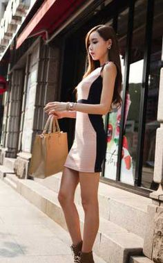 Korean Pink Dress Korean Fashion Dress, Korean Dress, Fashion Dresses, Lbd, Pink Dress, Fashion Show Dresses, Pink Sundress, Trendy Dresses, Pink Dresses