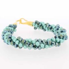Kumihimo Bracelet - Sea Foam  You must have a go at these bracelets, they are so easy to make and very pretty. They come with full instructions for you to use. I am sure all your friends will be asking you to make one, but don't tell them it only cost £4.99.