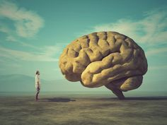 Huge brain ilustration