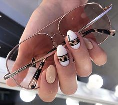 Fashionable design nail fall 2019 - 40 ideas gel-l . - Fashionable design nail fall 2019 – 40 ideas gel-l … … – Fashion - Nail Swag, Leopard Nails, White Nails, Brown Nails, Gelish Nails, Diy Nails, Ongles Beiges, Pointy Nails, Manicure E Pedicure