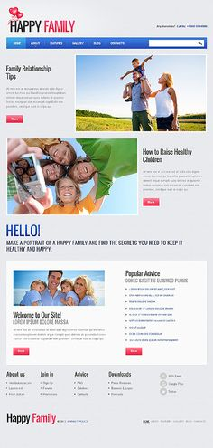 Family Center Joomla Templates by Amour