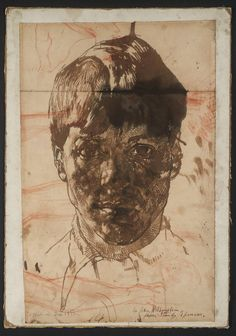 """herzogtum-sachsen-weissenfels: """"Sir Stanley Spencer (English, Self-Portrait, Ink and chalk on paper, x cm. Stanley Spencer, Figure Drawing, Painting & Drawing, Encaustic Painting, Life Drawing, Gouache, Contemporary Portrait Artists, Contemporary Art, Selfies"""