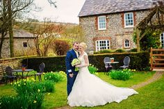 Charlotte and Jack #realwedding in the front gardena Upwaltham Barns, West sussex