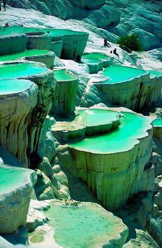 Piscina natural nas rochas de Pamukkale Turquia #sonhos #paraiso #lugares