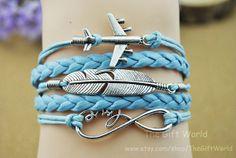 Silver Infinity bracelet  Aircraft bracelet  Love by TheGiftWorld, $4.98 Fashion handmade jewelry,best friendship gift