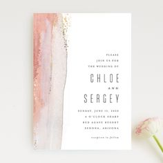 """Painted Desert"" foil-pressed wedding invitation design by Minted artist Hooray Creative. The new 2018 Minted wedding invitation collection is out and just in time for your nuptials."