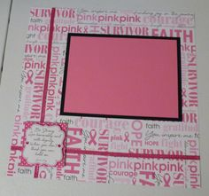 Breast cancer awareness layout