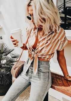 loving stripes for Summer! So cute! summer outfit, summer style, summer fashion, summer outfit idea, summer trends