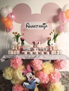 MINNIE MOUSE birthday themed party, Minnie mouse cake and sweets, Minnie mouse sweet table decoration Mini maus rodjendanska tema, mini maus dekoracija slatkog stola, mouse torta, mafini.