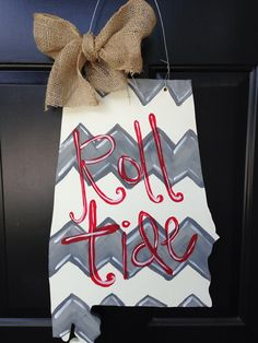 University of Alabama door hanger state shape by SwankySouth, $45.00