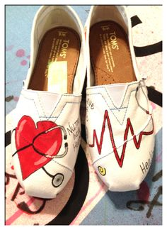 I really want these, they are awesome! -Would be really cute to wear if you were a nurse or worked at a hospital.