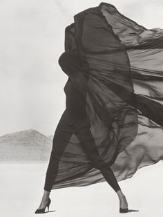 Herb Ritts' Greatest Hits — Yes, They're As Gorgeous As You Think #refinery29  http://www.refinery29.com/herb-ritts-getty-exhibit#slide-5  Versace, Veiled Dress, El Mirage,1990 by Herb Ritts; Copyright: © Herb Ritts Foundation. The J. Paul Getty Museum, LosAngeles, Gift of Herb Ritts Foundation....