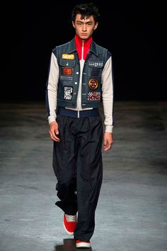 Topman Design: Meet the statement vest—patches and personality are the move. Also, zip sweaters are looking like a pretty cool staple for the first half of the new year.
