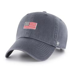 Available In 2 Colors Small American Flag Embroidered Vintage Baseball Cap