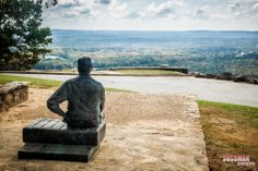 A life-size sculpture of FDR sits at Dowdell's Knob - a spot where he often picnicked and pondered world affairs.