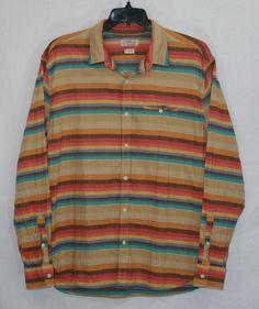 Lucky Brand California Striped Button Front Shirt XL Long Sleeve #LuckyBrand Men's Fashion
