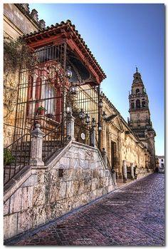 Córdoba༺♥༻Mezquita-Catedral de Córdoba Virgen de los Faroles. Mezquita de Córdoba, historia de Córdoba http://www.viajeuniversal.com/spain/cordoba/quever/virgendelosfaroles.htm
