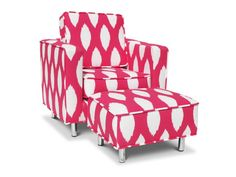 Jennifer Delonge Ava Toddler Chair and Ottoman, available at #polkadotpeacock. #peacocklove #jenniferdelonge