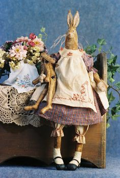 Cloth Doll Pattern - 26in Country Girl Rabbit Epattern