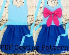 FAIRY GODMOTHER CINDERELLA Disney princess inspired Child Costume Apron pdf Sewing Pattern. Girl sizes 2-8 Halloween Birthday Party Dress up