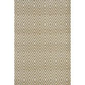 Woven Diamond Khaki/White Rug - dash n Albert 6x9