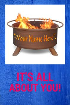 The most personal gift you can give someone is something customized just for them.  Personalize this fire pit with your own text and images. By special order from the Fire Pits Store!