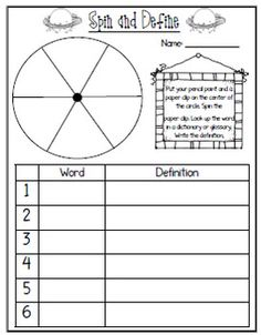 ***4 FREE SAMPLES!!!*** Customize your OWN Word Work Printables for spelling, vocab, and sight words!