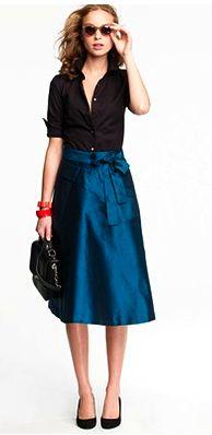 jcrew turquoise skirt.