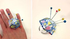 Learn how to make this Liberty Print faceted ring pincushion #StepByStep #tutorial on the Liberty Craft Blog #Stile