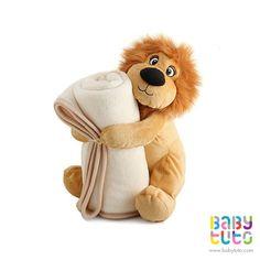Peluche de león con mantita de polar, $13.900 (precio referencial). Marca Terramater: http://bbt.to/1xbT9Yk