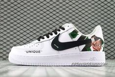 78935a0f1efac Women Men DUMR X Custom Nike Air Force 1 Low Floral Rose Patch Flower White  2020 Best