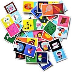 Un très joli jeu de dominos.Cartes à assembler au style rétro pour les 3 ans et  Taille de la boîte : 18 x 10 cmOn aime, on recommande :- un domino par association d'idées : intelligent et ludique.- un jeu qui donne envie aux parents de jouer !