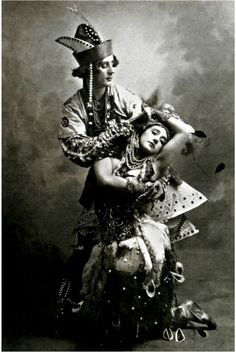 Tamara Karsavina and Mikhail Fokine in The Firebird. Ballets Russes de Serge de Diaghilev, 1910.The Ballets Russes were not technically demimonde...but a healthy dose of orientalism and shocking choreography certainly helped them toe the line of respectability.